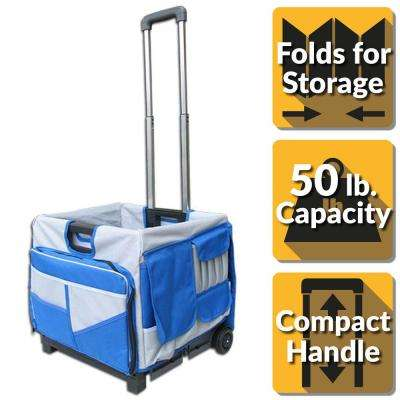 Pack-N-Roll 17 in. 48-Pocket Foldable Utility Cart