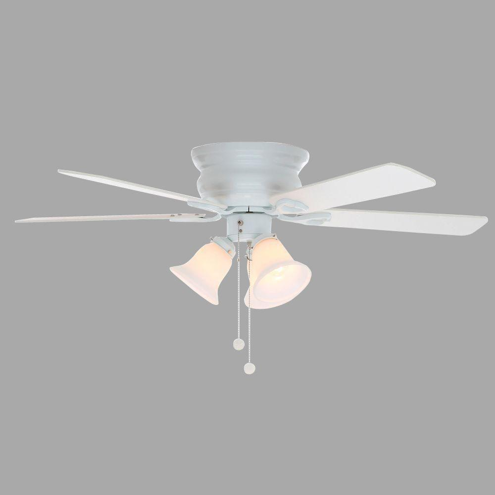 ceiling fan 44 inch. Null Clarkston 44 In. Indoor White Ceiling Fan With Light Kit Inch
