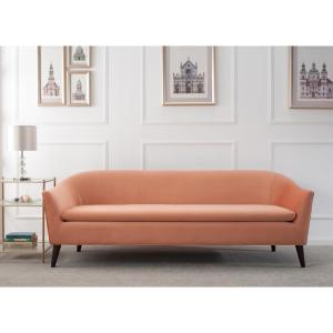 Jennifer Taylor Lia Mid-Century Orange Modern Sofa 63320-3-930 - The ...