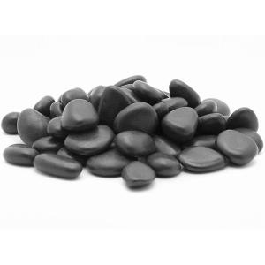 2 in. to 3 in., 2200 lb. Large Black Grade A Polished Pebbles Super Sack