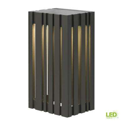 Uptown 1-Light Bronze Outdoor 12.8 in. LED Small Wall Light