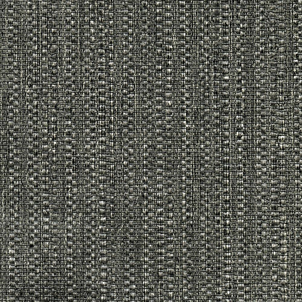 undefined 8 in. x 10 in. Biwa Black Vertical Weave Wallpaper Sample