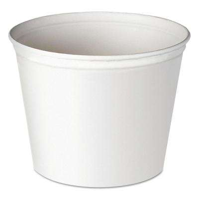Double Wrapped Paper Bucket, 83 oz., Unwaxed, White, 100 Per Case