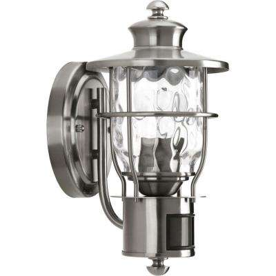 Beacon Collection 1-Light Stainless Steel Motion Outdoor Wall Lantern