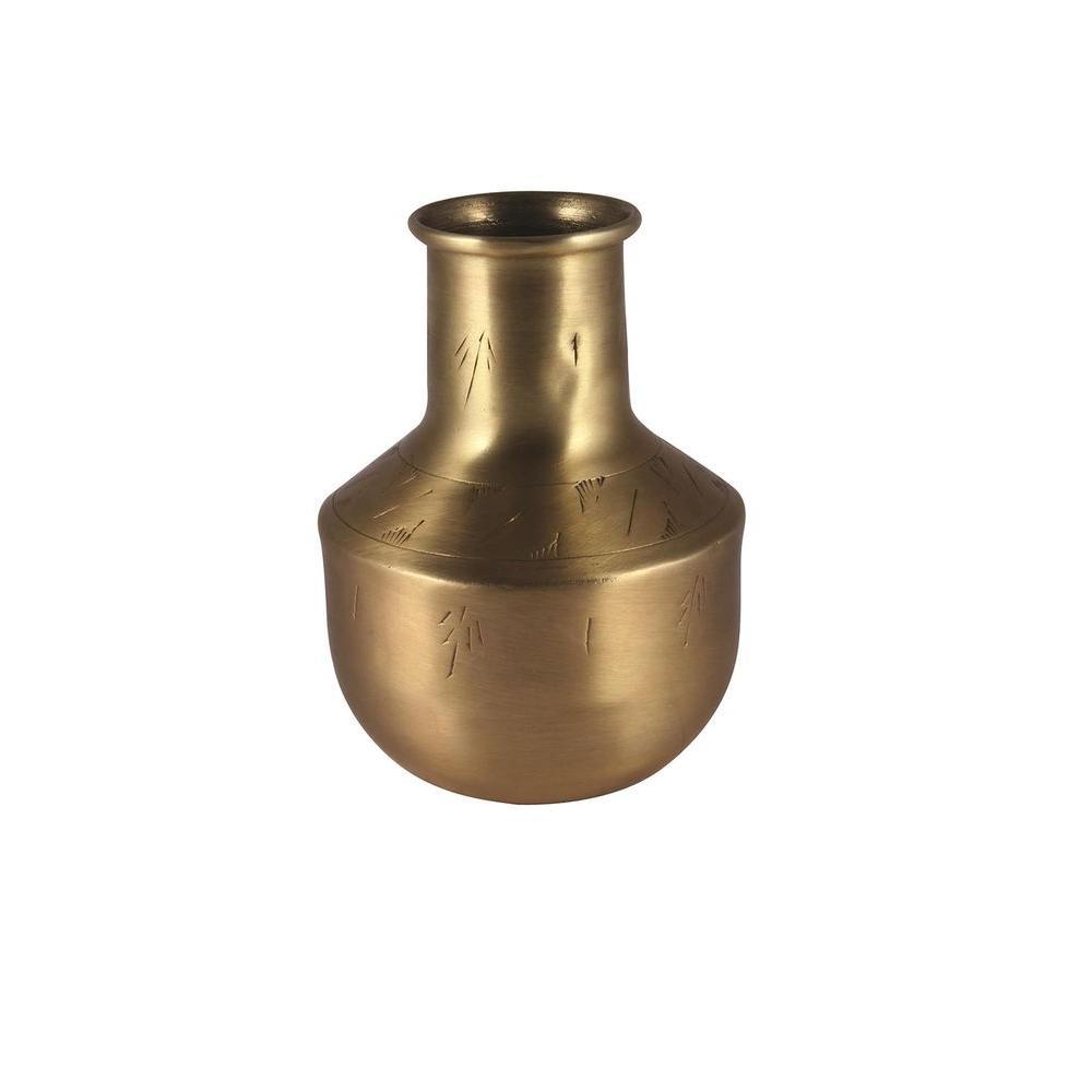 Bristol 4 in. H Decorative Vase in Gold