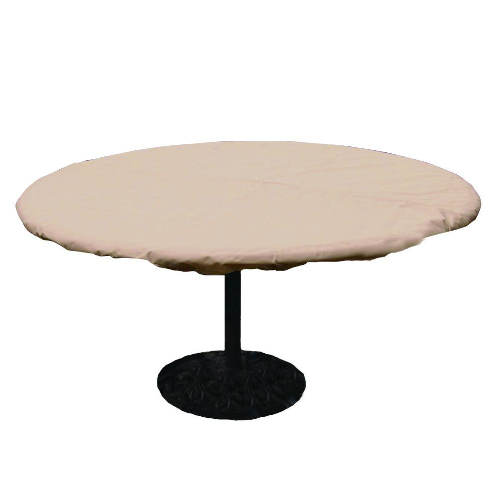 Hearth Garden Polyester Standard Round Patio Table Cover With Pvc Coating