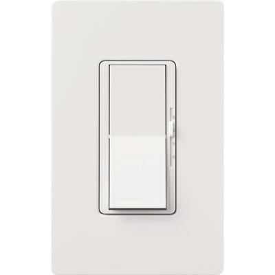 Diva Fan Control and Light Switch for LEDs, CFLs, Incandescent and Halogen Bulbs, with Wallplate, White