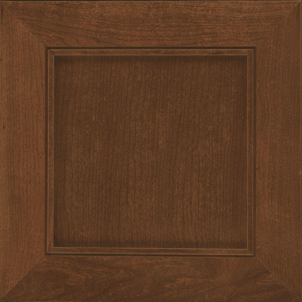 Cabinet Door S&le in Carter Cherry in Hazel Suede & KraftMaid 15x15 in. Cabinet Door Sample in Piermont Maple Square ...
