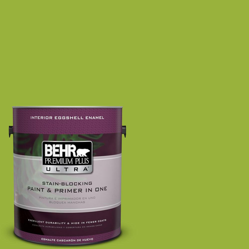 1 gal. #410B-7 Bamboo Leaf Eggshell Enamel Interior Paint and Primer
