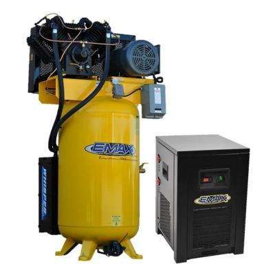 Industrial Plus 80 Gal. 7.5 HP 230-Volt 3-Phase 2-Stage Silent Air Electric Air Compressor with 30 CFM Dryer Bundle