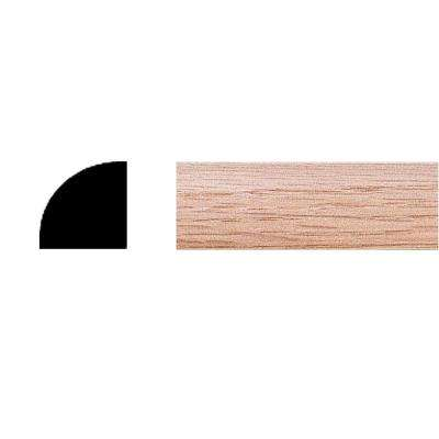 .72 in. x .72 in. x 8 ft. Oak Quarter Round Moulding