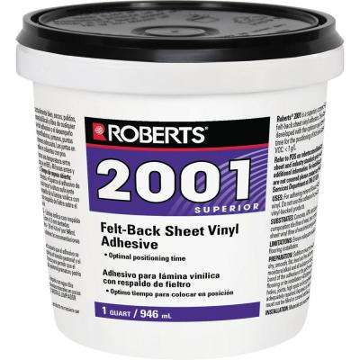 2001 1 Qt. Felt-Back Sheet Vinyl Glue Adhesive, Superior Grade
