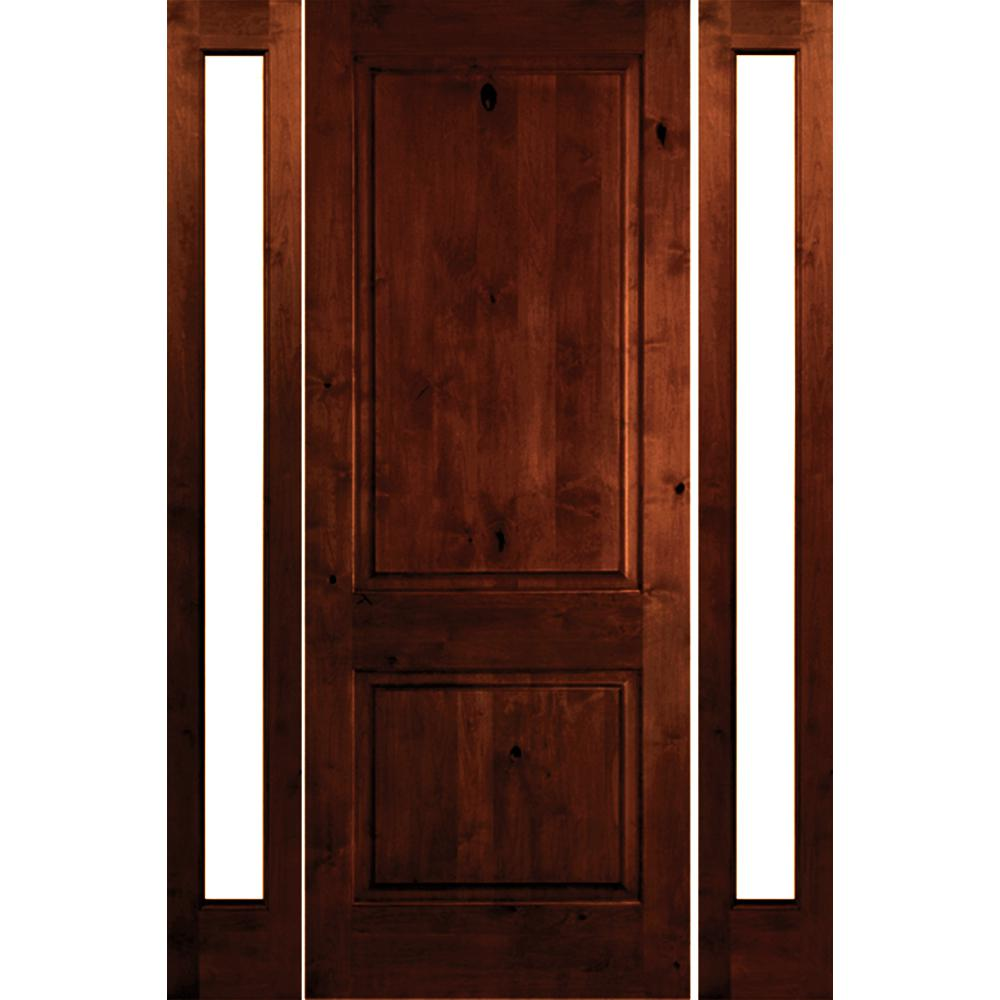 Krosswood Doors 30 In X 80 In Rustic Knotty Alder 2: Krosswood Doors 58 In. X 80 In. Rustic Knotty Alder Square