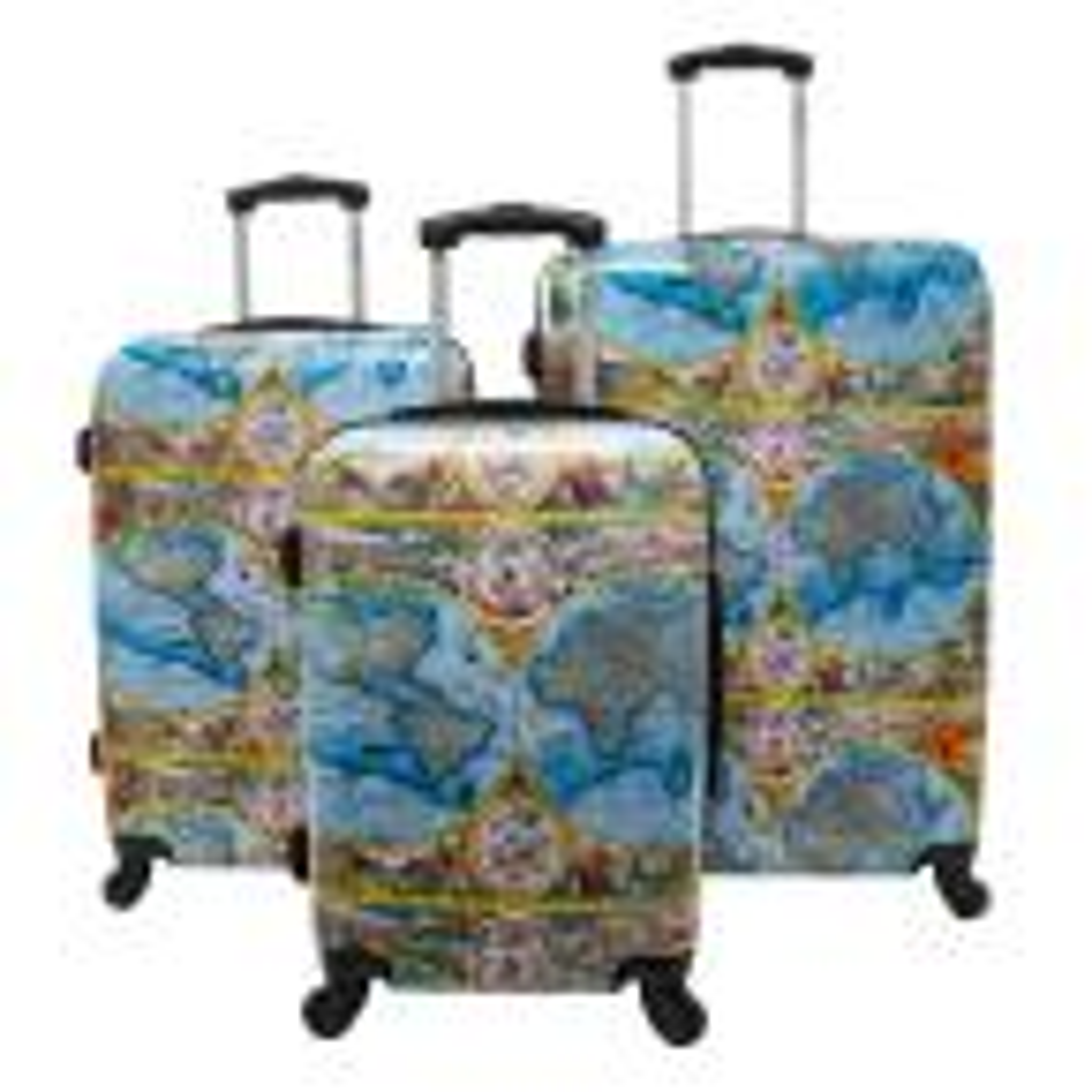 One World 3-Piece Hardside Spinner Luggage Set