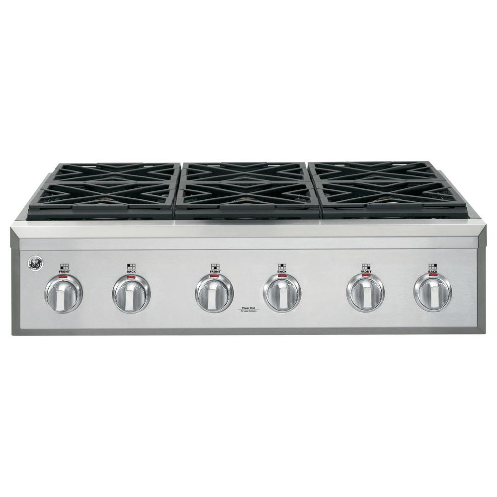 Cafe 36 in. Gas Cooktop in Stainless Steel with 6 Sealed