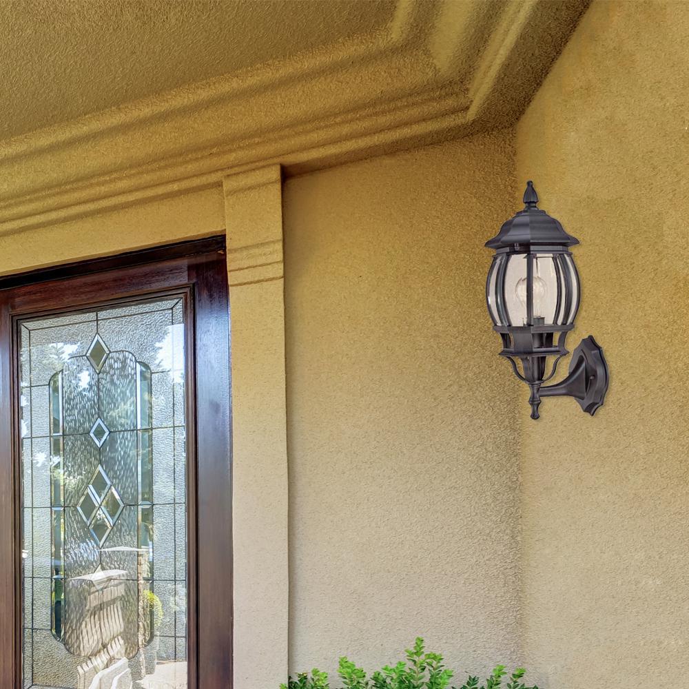 Light Black Outdoor Wall Lantern Sconce