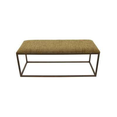 19.5 in. Brown Metal Bench