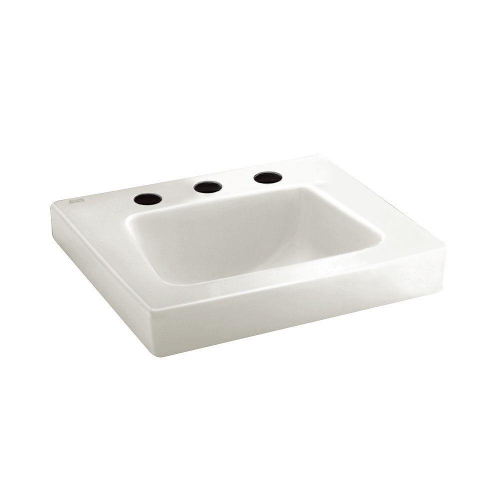American Standard Roxalyn Wall Hung Bathroom Sink In White
