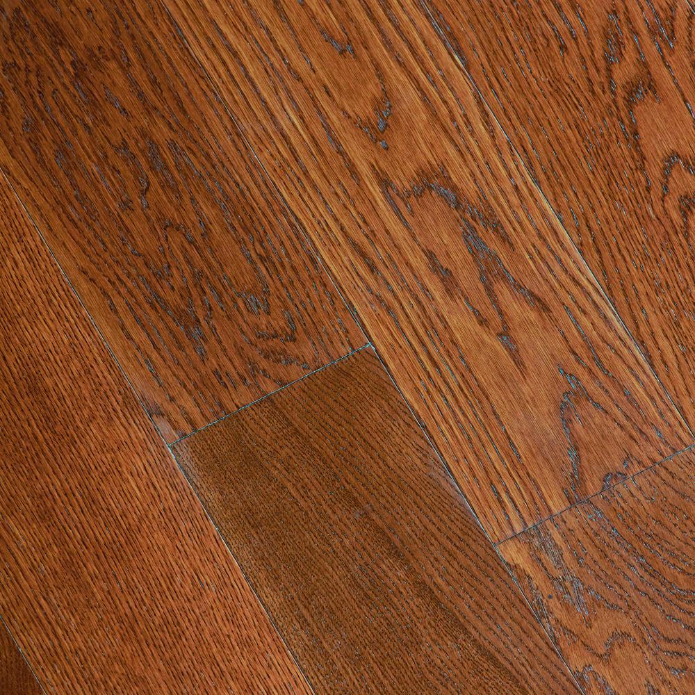 Gunstock Oak 3/8 in. Thick x 5 in. Wide x Varying Length Click Lock Hardwood Flooring (19.686 sq. ft. / case)
