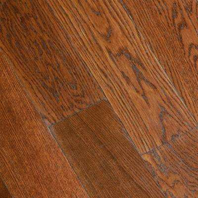 Gunstock Oak 3 8 In Thick X 5 In Wide X Varying Length Click Lock Hardwood Flooring 19 686 Sq Ft Case