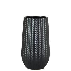 Urban Trends Collection Black Matte Finish Stoneware Decorative Vase by Urban Trends Collection