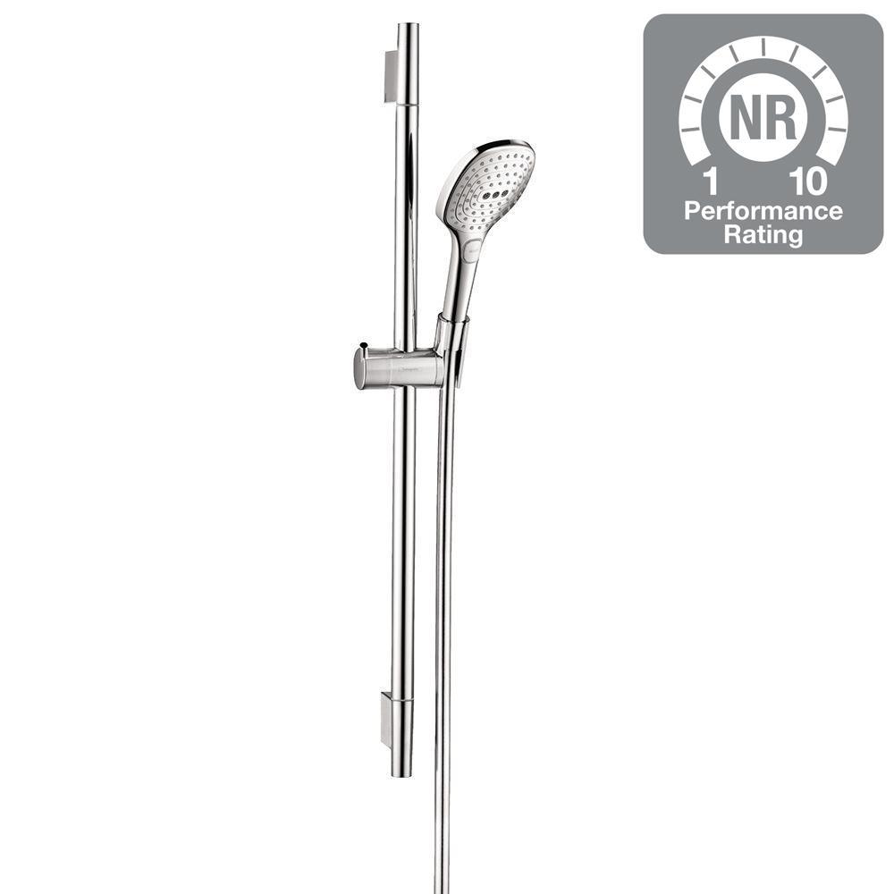 Lovely Raindance Select E 120 Green 3 Spray Wall Bar Shower Kit In Chrome