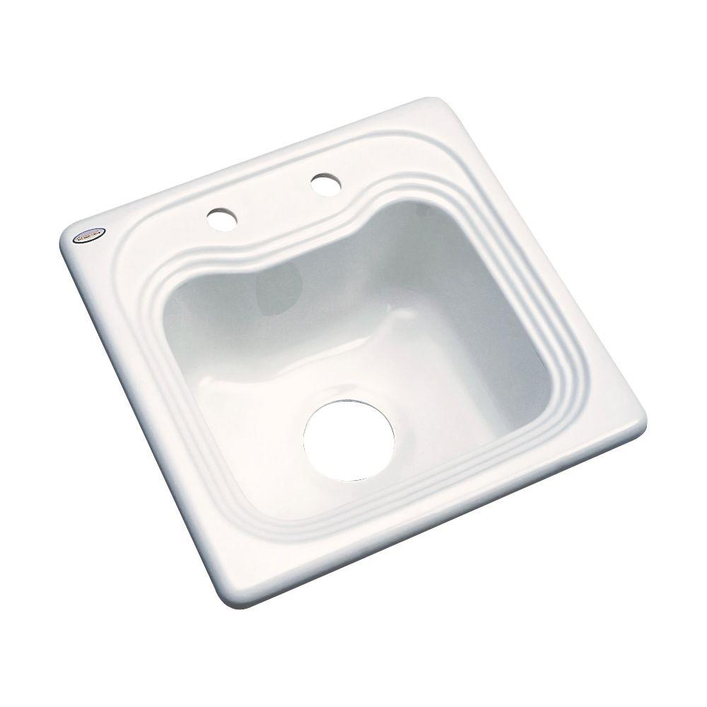 Oxford Drop-In Acrylic 16 in. 2-Hole Single Bowl Entertainment Sink in