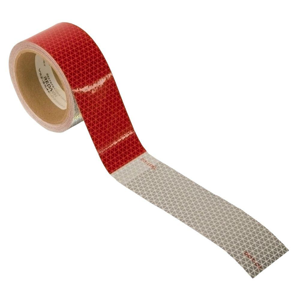 30 ft. Conspicuity Tape Roll in Red and White (4-Pack)