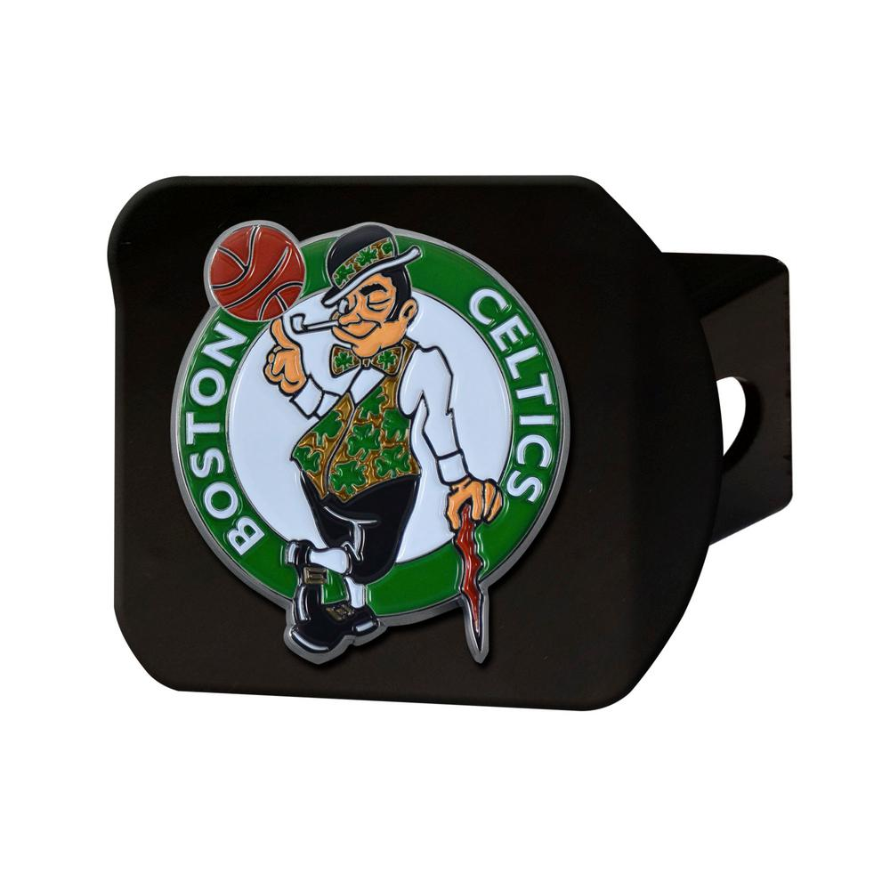 timeless design 88a1b 5b64b FANMATS NBA Boston Celtics Color Emblem on Black Hitch Cover