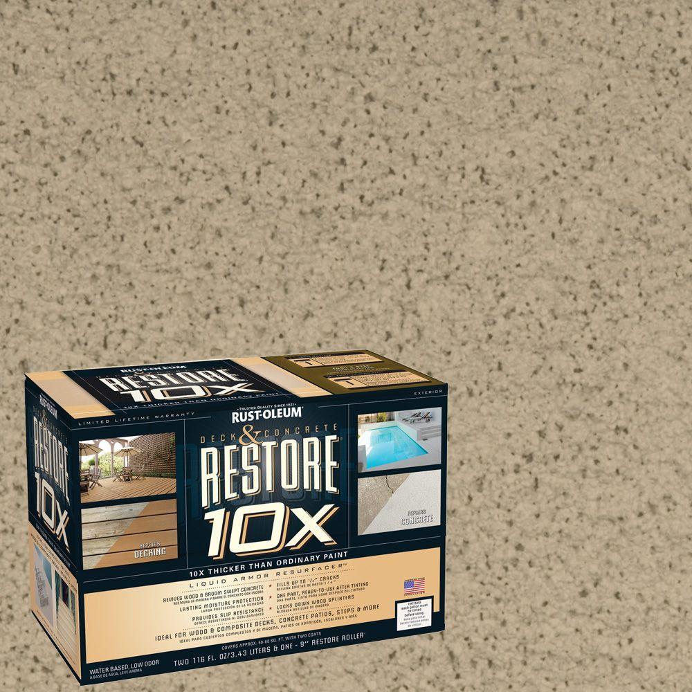 Rust-Oleum Restore 2-gal. Driftwood Deck and Concrete 10X Resurfacer
