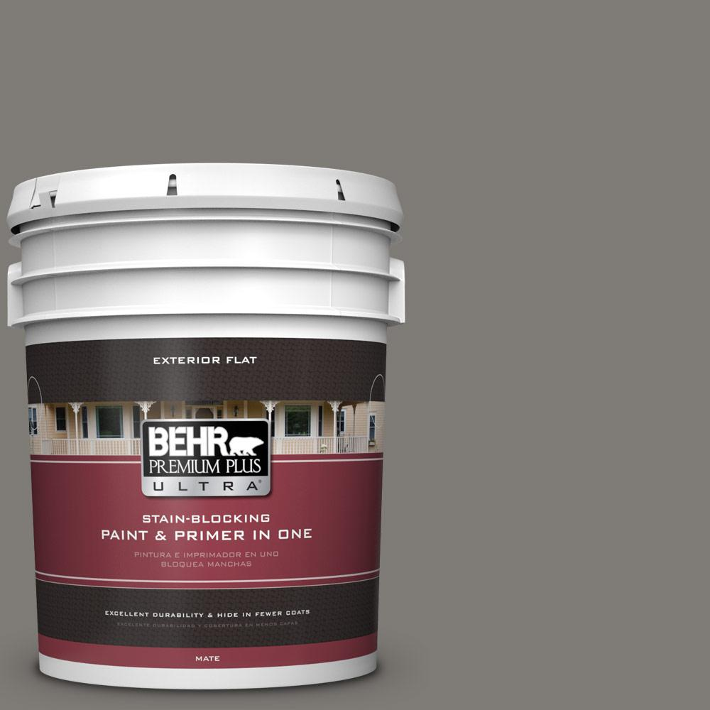 5 gal. #PPU24-21 Greyhound Flat Exterior Paint