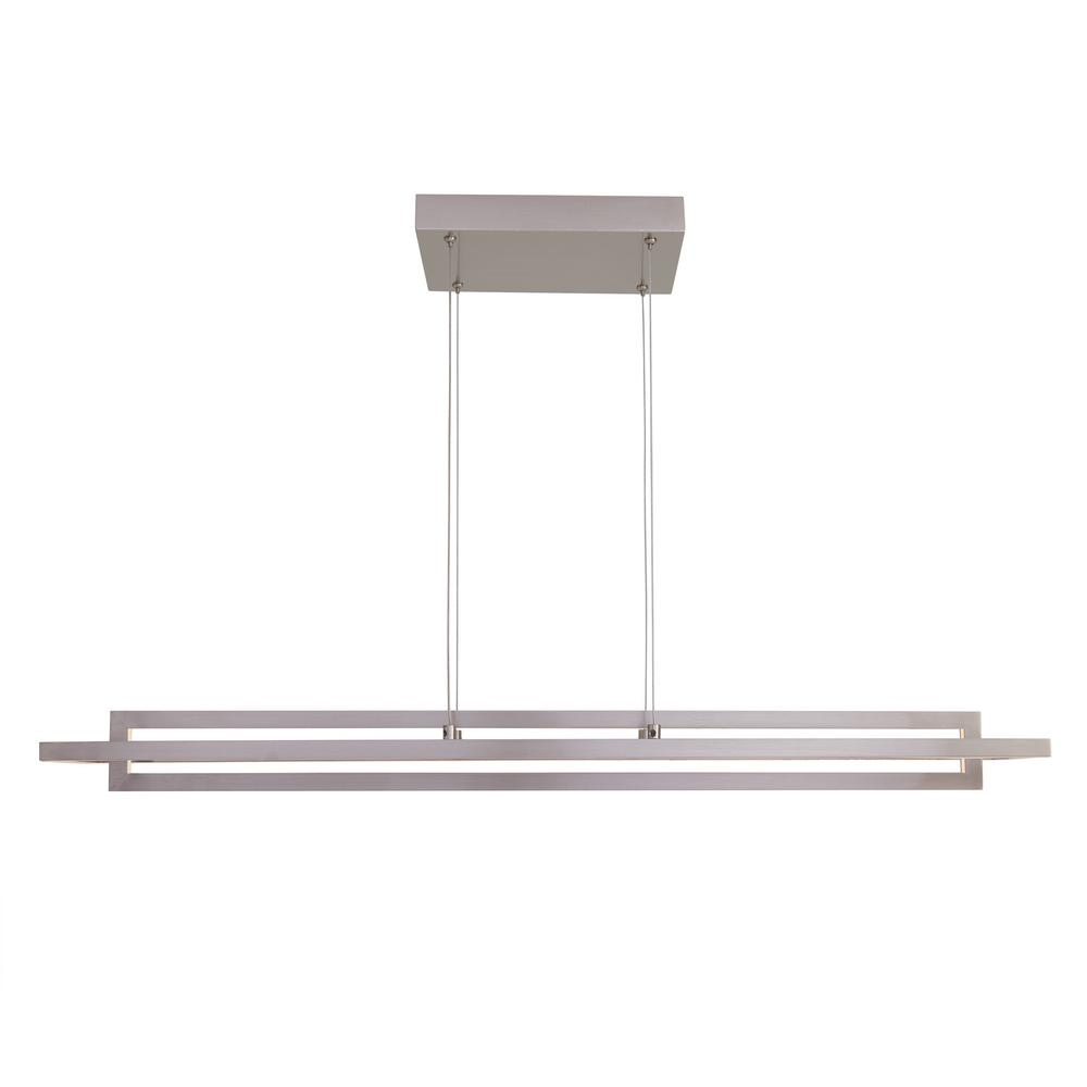 Artika Biplan 29-Watt Integrated LED Brushed Nickel Pendant was $179.0 now $119.0 (34.0% off)