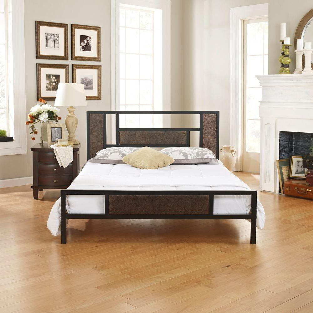 Rest Rite Cheryl Rustic Bronze Twin Bed Frame-RRCCMB0153TW - The ...