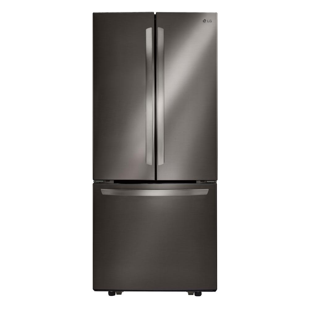 LG Electronics 21.8 cu. ft. French Door Refrigerator in Black Stainless Steel