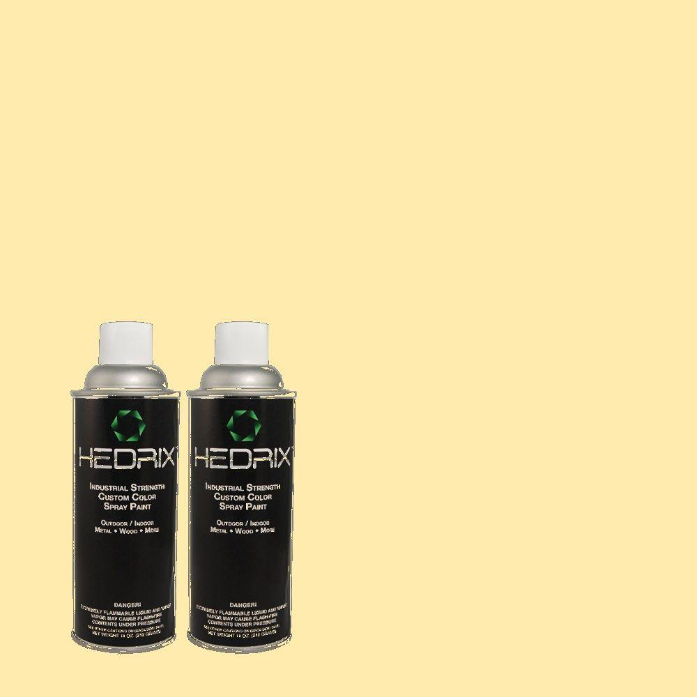 Hedrix 11 oz. Match of 1A7-3 Rising Sun Semi-Gloss Custom Spray Paint (2-Pack)