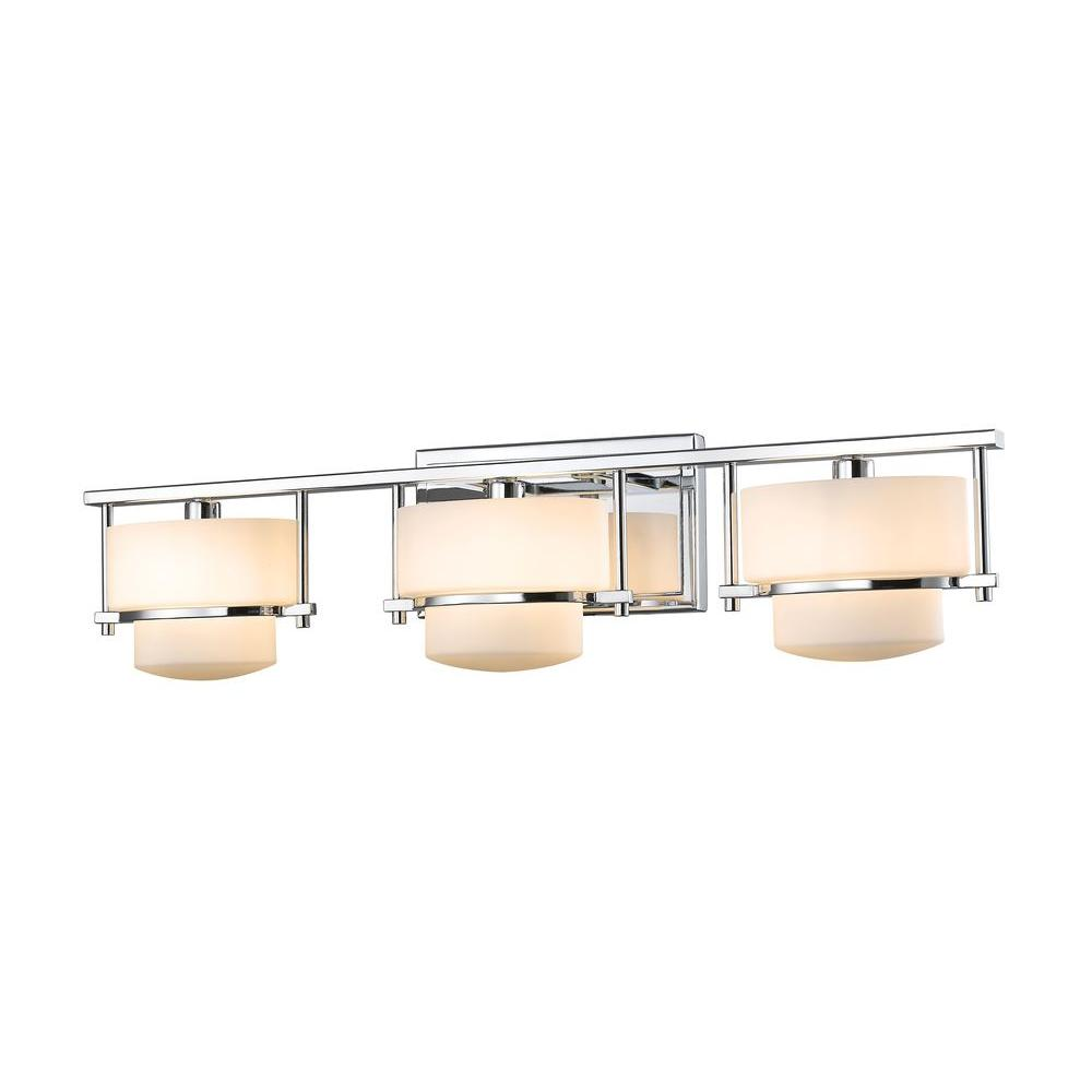 Christen 3-Light Chrome Bath Vanity Light