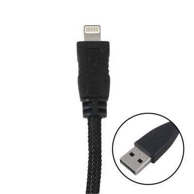 3 ft. Braided Lightning 8-Pin to USB A Cable, Black
