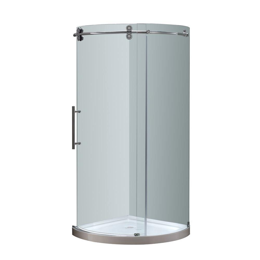 VIGO Sanibel 43.625 in. x 79.5 in. Frameless Bypass Shower Enclosure ...