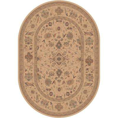 Sultanabad Cream 5 ft. 3 in. x 7 ft. 7 in. Oval Indoor Area Rug