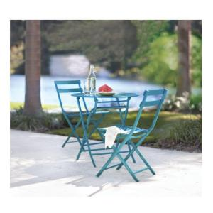 home decorators collection follie peacock 3piece patio bistro the home depot