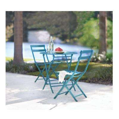 Follie Peacock 3-Piece Patio Bistro Set