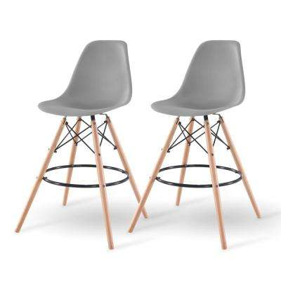 43 in. Gray Bar Stool (Set of 2)