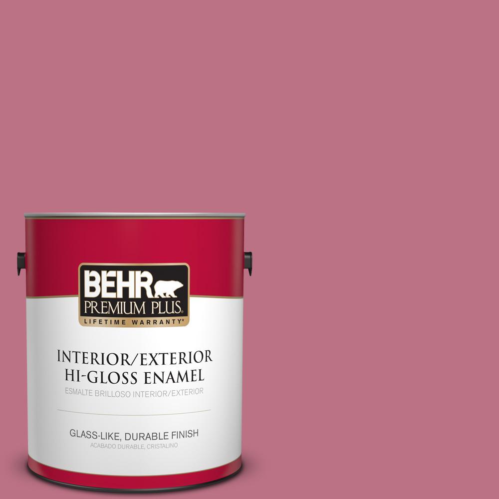BEHR Premium Plus 1 gal. #MQ1-08 Smell the Roses Hi-Gloss Enamel ...
