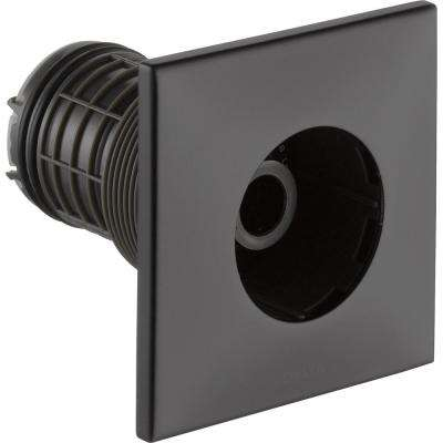 HydraChoice Square Body Spray Trim Kit in Matte Black (Valve and Spray Head Not Included)