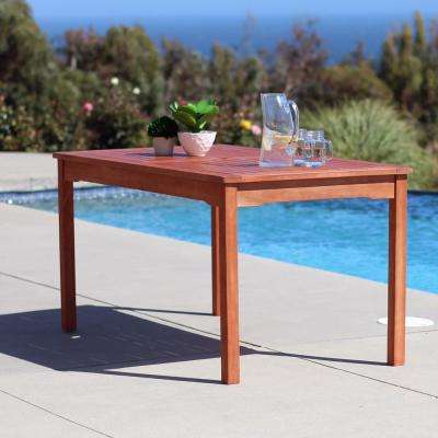 Balthazar Eucalyptus 59 in. x 32 in. Patio Dining Table