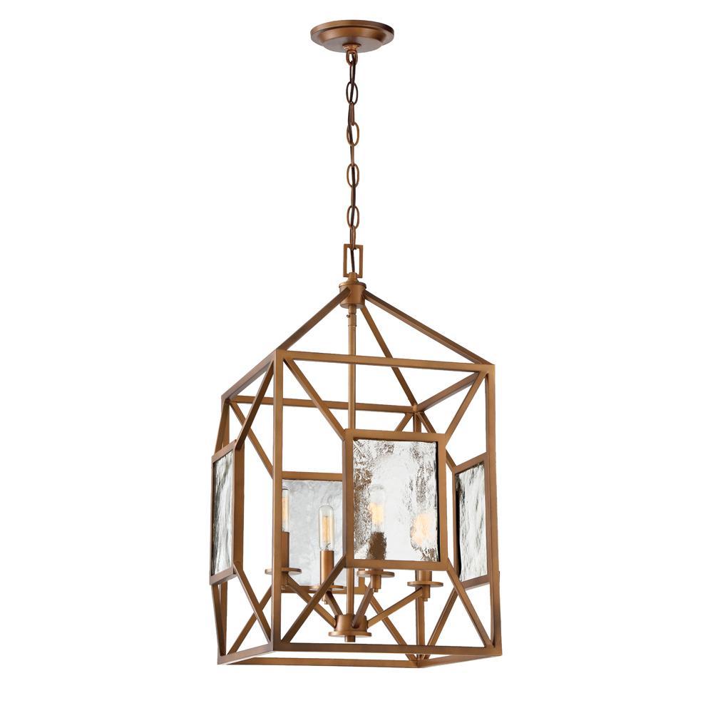 Athina 4-Light Gilded Bronze Pendant