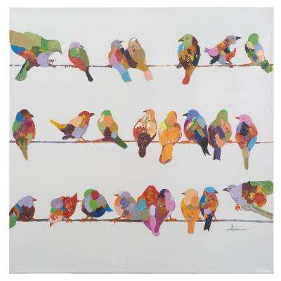 36 in. x 36 in. Birds on a Wire II
