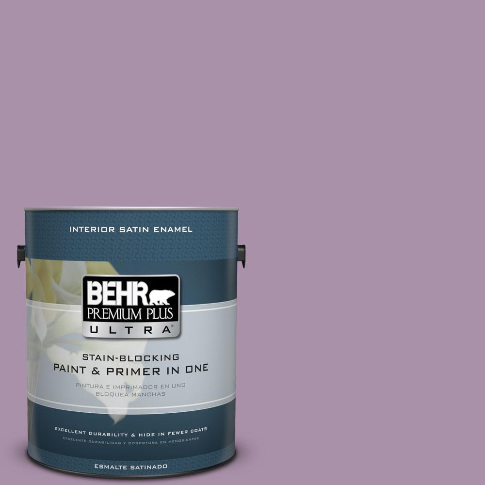 BEHR Premium Plus Ultra 1-gal. #670D-5 Garden Flower Satin Enamel Interior Paint