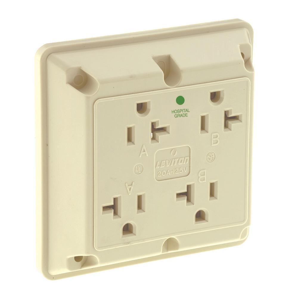 Leviton 20 Amp Commercial Grade Tamper Resistant Single Outlet ...