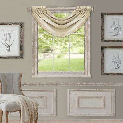 Elrene Versailles 52 in. W x 36 in. L Polyester Single Blackout Window Valance in Ivory